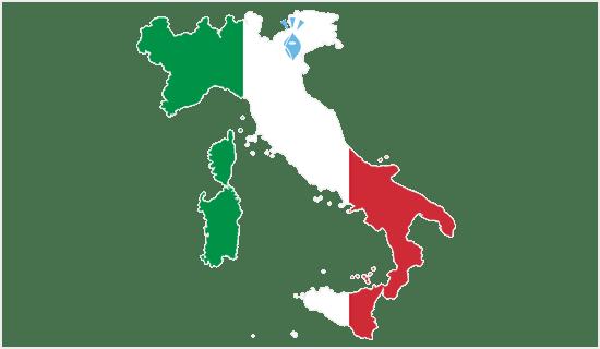 イタリアマップとヤスジンアイコン