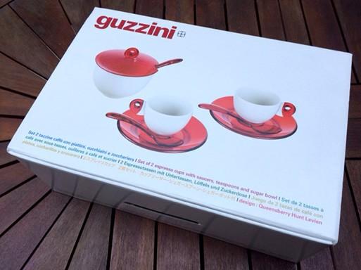 グッチーニのコーヒーカップの箱