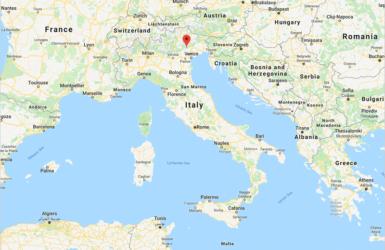 Googleマップ:イタリア・ヴァルドッビアーデネの位置